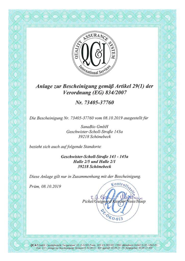 Alle Gebäude von SanaBio sind bio-zertifiziert